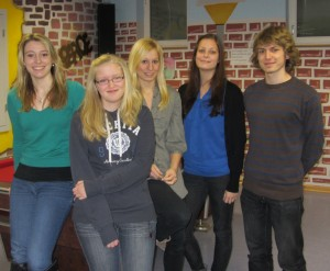Der Jugendsprecherrat (v.l.): Natalie Hirschlein, Franziska Karl, Julia Schobert, Anja Franz, Silvan Lukoschek