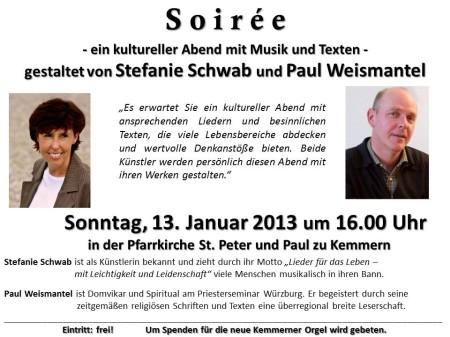 Plakat Lesung Weismantel
