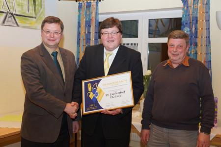 SV Zapfendorf Goldene Raute mit Ähre 2013