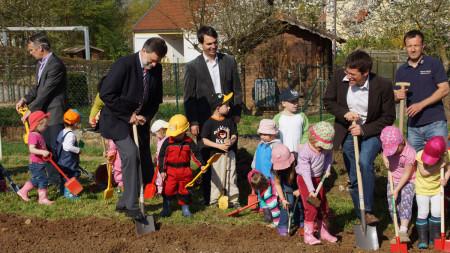 Spatenstich Kindergarten St. Christophorus 2013