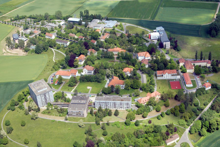 Luftbild Bezirksklinikum Obermain