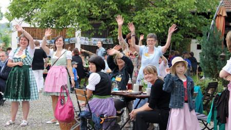 Besuch Bewertungskommission Dorfwettbewerb 2013 in Mürsbach