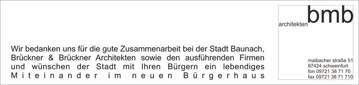 Boldt Architekten - Sonderveröffentlichung Bürgerhaus Baunach 2013