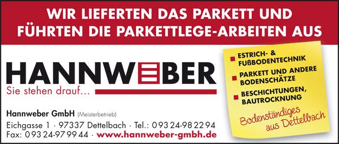Hannweber - Sonderveröffentlichung Bürgerhaus Baunach 2013