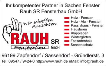 Fenster Rauh - Sonderveröffentlichung Bürgerhaus Baunach 2013