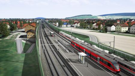 ICE-Ausbau Breitengüßbach Bahnhof