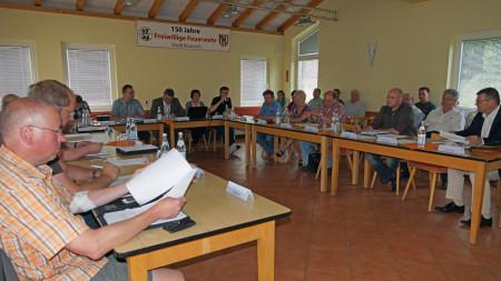 Stadtrat Baunach Sitzung im FFW-Haus, Juni 2013