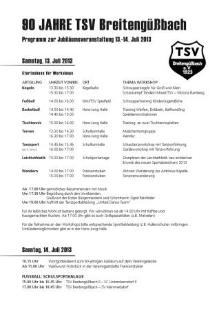 90 Jahre TSV Breitengüßbach 2013