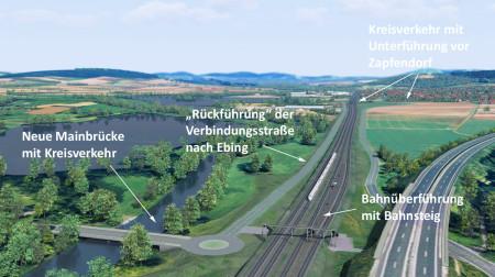 Fotomontage Bahnausbau Ebing 2013 1