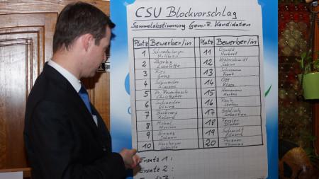 CSU-Aufstellungsversammlung 2013