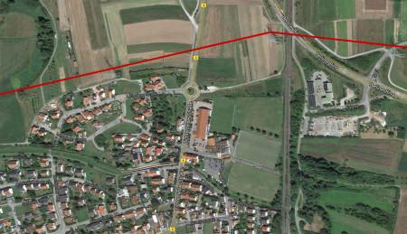 Stromleitung Hallstadt TenneT 2013