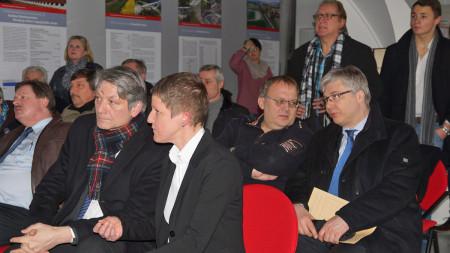 Ortstermin Breitengüßbach Bahn Staatssekretär Eck 2014