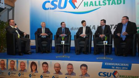 Wahlveranstaltung CSU Hallstadt 2014