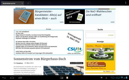 Screenshot Tablet 2014