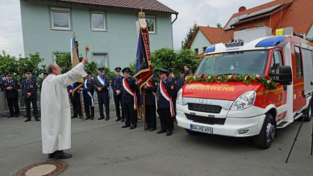 Feuerwehr Unterleiterbach Fahrzeugweihe 2014