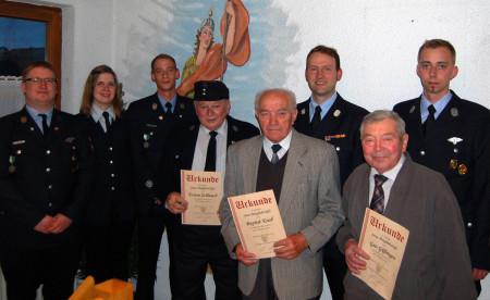 Florianstag FFW Hallstadt 2014 Ehrung Verein 60 Jahre