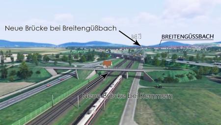 VDE8 Brücken Kemmern Breitengüßbach Screenshot 2014