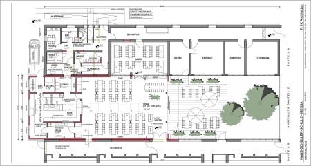 Entwurfsplan Schulmensa Hallstadt 09-2014