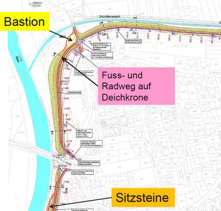Hochwasserschutz Hallstadt Dörfleins Deich Hallstadt 4