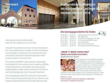 Kulturkalender Baunach 2014