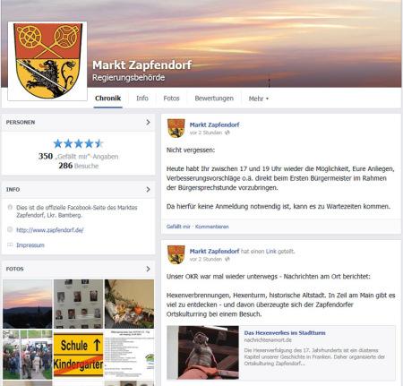 Facebook Markt Zapfendorf 2014