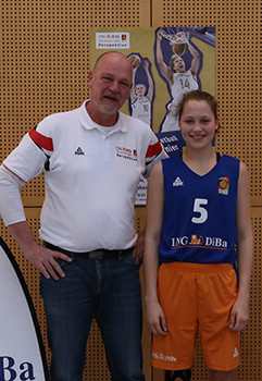 Basketball-Förderung Kim Siebert 2015