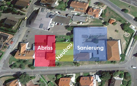 Luftbild Schule Rattelsdorf 2015