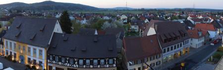 Hallstadt in neuem Licht Start 2015 Drehleiter