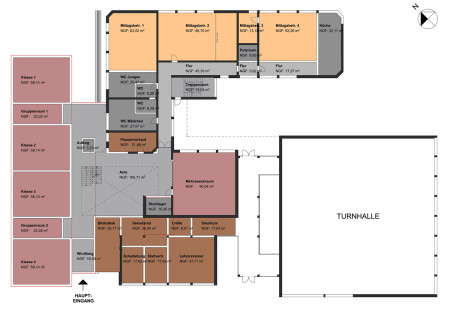 Schule Rattelsdorf Plan EG April 2015