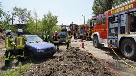 Feuerwehr Übung Frauen Zapfendorf 2015