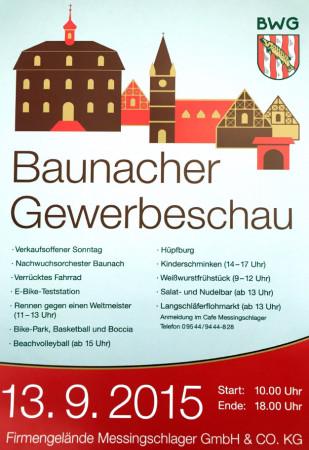 Plakat Gewerbeschau Baunach 2015