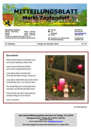 Mitteilungsblatt Zapfendorf 2015