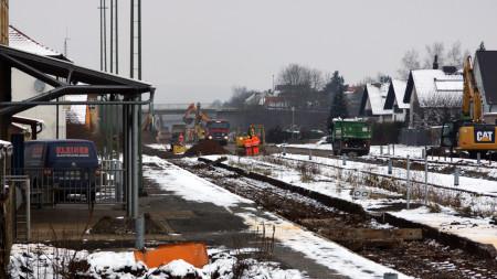 Bahnbaustelle 20.01.2016 Breitengüßbach