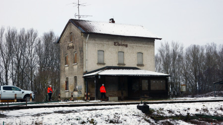 Bahnbaustelle 20.01.2016 Ebing