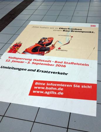 Plakat Bahnbaustelle 2016