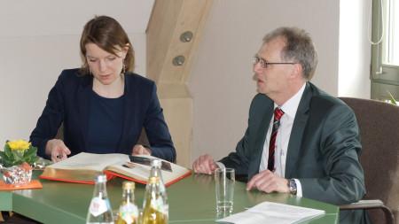 Ortsbesuch Emmi Zeulner Zapfendorf 2016 2