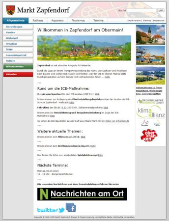 Screenshot Webseite Zapfendorf 29-04-2016