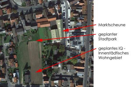 Stadtpark Hallstadt Lage