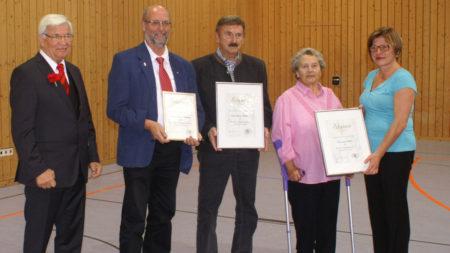 Ehrungen Gemeinschaftskonzert Rattelsdorf 2016